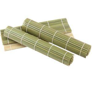 Sushi Rolling Green rolo de bambu Bamboo DIY Sushi Mat Onigiri arroz rolo Mão fabricante de sushi Ferramentas Kitchen Japanese Food Beto Acesso wry001