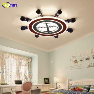 FUMAT Childrens Bedroom LED Ceiling Lamp Dimming Cartoon Rudder Interior Decoration Ceiling Lights Living Room Lighting Fixtures Avize