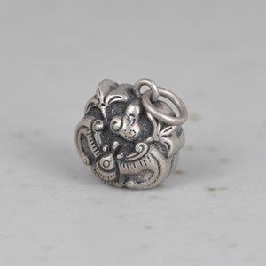 mWfNP Золотой олень король S925 серебро китайский серебряный колокольчик Подвеска Diy браслет поделки ручной браслет ножной браслет аксессуары подвеска аксессуары