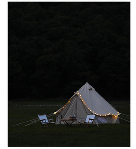 Luxury camping teepee tent outdoor picnic fishing driving tourist oversized space family party canvas Rainstorm-proof belltent