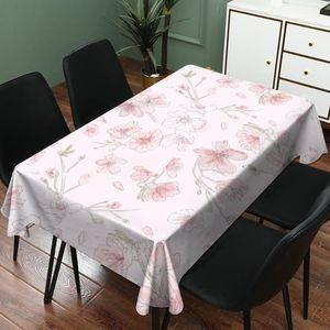 Imixlot Fiore modello impermeabile Lino Tovaglia rettangolare Tovaglia casa Dinner Table Decoration
