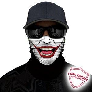 스컬 위장 머리띠 자전거는 얼굴 야외 버프 조커 익명 넥 게이터 안면 보호구 원활한 두건 마스크 3D