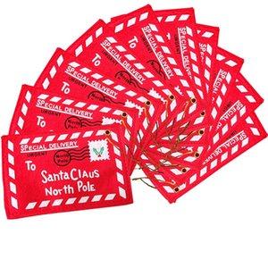 لسانتا كلوز عيد الميلاد الأحمر سلموا مغلف قلادة عيد الميلاد الديكور حقائب عيد الميلاد هدايا فتاة مدرسة بطاقات الزفاف اكسسوارات للمنزل
