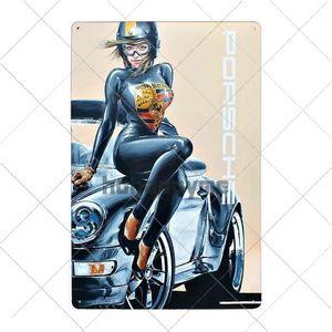 Team Gulf Schilder Motor Tin Benzin-Wand-Dekoration Poster Metal Racing Startseite Garage 8x12 Platte Dekor-Öl Plaque Inch Jahrgang nAnaB bdesports