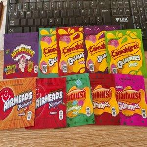 Candy Bag Упаковка Майларовых Фонтанирующих скважин Gummies Съедобного Rope Bag Skittles Укус Chuckles Errlli Данк Упаковка ботаники Runtz настоянных Cannaburst hzjFp