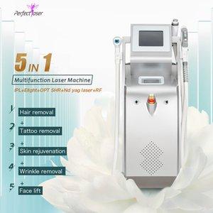 5 В 1 SHR лазер ND YAG лазер Rf Машина Омоложение кожи Лазерное удаление татуировки волос машина Multi-Functional Оборудование для салонов красоты