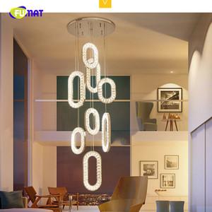 Personalità Fumat Post Modern K9 cristallo ovale Stainess acciaio Ciondolo ha condotto l'illuminazione di lusso della lampada per sala da pranzo Foyer Villa Luce