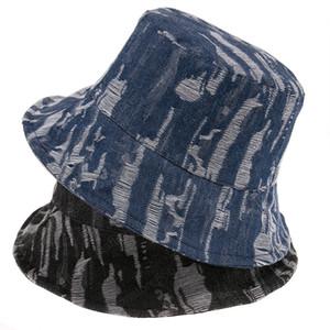 Новая мода в стиле ретро Женщина синей Черная дыра деним Ковш шапка Мужского Buckethat Casquette Panama Открытого Рыбалка Caps