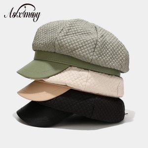 Sonbahar Kış Newsboy Kadınlar Sıcak Sekizgen Hat Kadın Uzay Pamuk Şapka Retro Düz Bereliler Painter 2020 Chapeau Bayanlar Caps