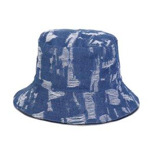 Summer New Hip-Hop Straw Hat Ladies Double-Sided Wear Cowboy Bucket Hat Men Basin Outdoor Travel Fisherman M31