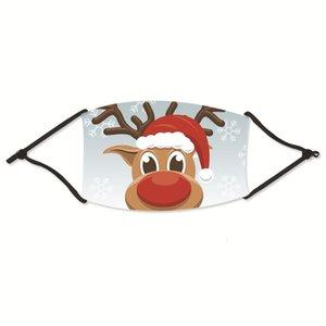 Natal ePack Imprimir Moda Máscaras Reutilizado cara Anti-poeira do fumo gás ajustável reutilizável Proteção PM2.5 Filtros Forman # 21333