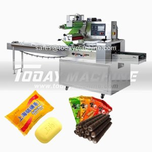 China Price Automatic Multi-function Horizontal Flow Packing Machine For Biscuits Cookies  Loaf Bread