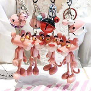 cev0F الجديد الإبداعي صغير النمر الوردي الكرة هدية سلسلة مفتاح أرنب فرو الرجال الكرة وزوجين مفتاح حقيبة هدية سلسلة المرأة باي زي