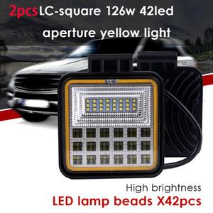 CARPRIE Light Bar Work Light 2020 NEW 126w 42led 4x4 Led bar Spot Flood Combo Offroad LED headlight For SUV Truck HOT 1031