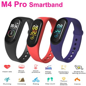 M4Pro Smart Bracelet Thermometer Fitness Tracker Heart Rate Blood Pressure Monitor Waterproof Sport Smart Watch Wristbands For Android IOS