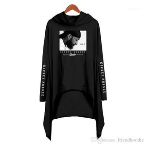 Clothing Nipsey Hussle Women Hoodies Designer Long Sleeve 3D Printed Dress USA Rapper Lady Loose Fashion