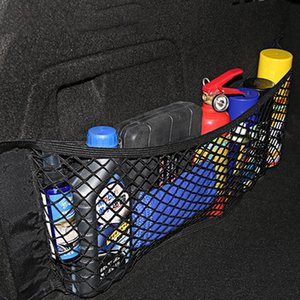 Car Magic Sticker Mesh Storage Bag 40*25cm Car Back Rear Trunk Seat Elastic String Net Pocket Cage Auto Organizer Seat Back Bag DBC BH4077
