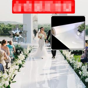 زفاف جديد يرتكز اللون الأبيض مرآة الزفاف السجاد الممر عداء 1M 1.2M 1.5M 2M واسعة الرقص الطابق السجاد عيد الميلاد زينة الزفاف