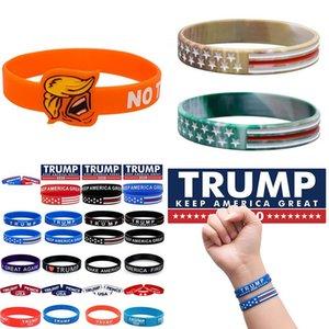 2020 Trump Silikon Bileklik Donald Trump Bilezik Keep Amerika Büyük Silikon Bileklik Bilek Bandı Parti Favor XD23939