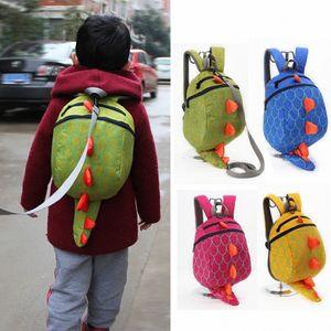 Backpack Women Children Kids Boys Girls School Bag Fashion Cute Cartoon 3D Dinosaur Anti Lost Shoulder Backpack Bags Mochilas WPkW#