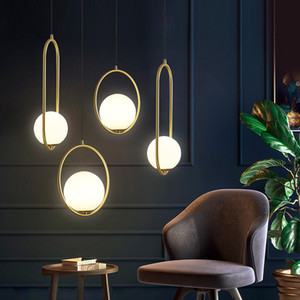 Nordic Led Pendant Lamps Creative Modern Beside Brass Hanging Lights for Bedroom Restaurant Momoda Indoor Lighting Hanging Home