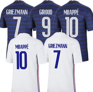 2021 ФРАНЦУЗСКОГО Джерси Тайского качество 20 21FRENCH MBAPPE Griezmann Pogba футбол Джерси рубашка футбол Майо-де-футовый