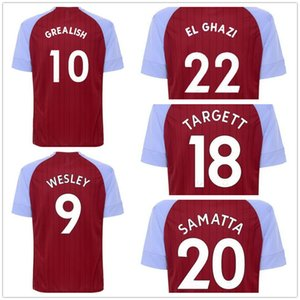 20-21 Customized Aston Villa zu Hause weg 7 McGinn 9 Wesley 10 Grealish 11 NAKAMBA 22 EL Ghazi 20 Samatta Fußball-Trikot Individueller Discount beliebt