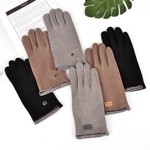 Mens Handschuhe Touch-Screen-Handschuh-Kaninchen-Pelz Fleeced verdickte Winter-Handschuhe Warm Finger Designer Handschuhe Ski Handschuh Fahrrad Telefinger CZ91601