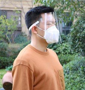 Máscara de protección anti spray Caps Borrar los hijos adultos reutilizable para toda la cara cubierta de visera de accesorios al aire libre 1000pcs Dw5416