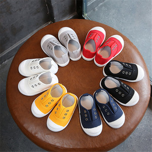 Children's Canvas Shoes Boys And Girls Casual Shoes Solid Color Non-slip Breathable Baby Kids Canvas Shoes