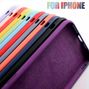 New Silicone case for iPhone 12 11 pro 6 7 8 Plus X XS X Max Liquid silicone Case and retail package