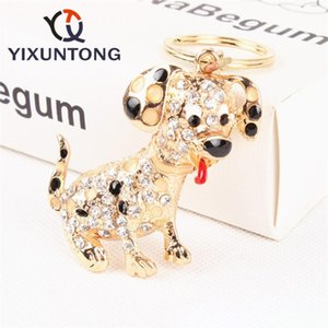 Lovely Pet Dog Keychains Cute Dogs Key Ring Metal Car Keychain jewelry woman bag keyrings novelty items girl bag charm