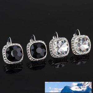 Lussuosa Noble Ornamenti Concise lega di cristallo di personalità del chiodo dell'orecchio