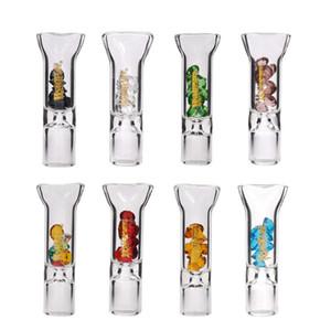 Mehrfarbenglas Rauchen Rohr 8mm Cigaret Filterspitzen Konische Ein Schlag Glasrohr Tragbare Tasting Rohrverschraubung für Zubehör Raucher