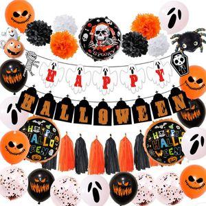 Yeni Cadılar Bayramı Kabak Hayalet Balonlar Seti Cadılar Bayramı Süslemeleri Örümcek Folyo Balonlar Şişme Oyuncaklar Bat Globos Parti Malzemeleri