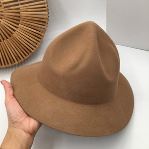 New winter in Europe and the wool felt hat female hat high volcanic cap of camel's hair Sir England Fedoras panama