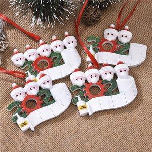 HOT decorazioni di natale 2020 ornamenti di quarantena Navidad resina degli alberi di Natale ornamento decorazione di Natale elfo bambola con la maschera di protezione