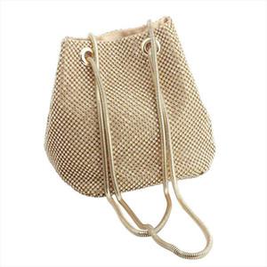Evening Bags 2019 Fashion Women Rhinestone Elgant Evening Party Shoulder Bag Tote Handbag Drop Shipping Good Quality