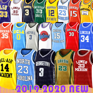 NCAA LeBron James Allen Iverson Dwyane Wade 23 Michael Vince Carter Bryant Jersey si sintonizzerà Squad Smith Lower Merion North Carolina Collegio