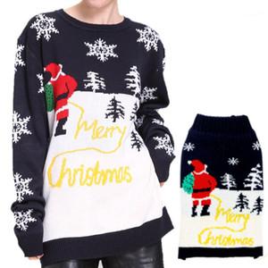 Printed Long Sleeve O Neck Sweaters Christmas Women Sweater Christmas Women Designer Sweaters Fashion Snowflake