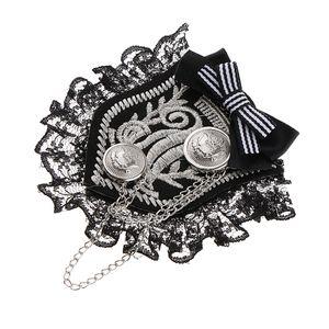 Rétro style britannique en dentelle en tissu Broche Corsage Broches Accessoires Badges