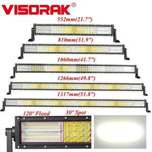 """Visorak 22 32 42 50 52"""" Curved campo a través del trabajo del LED Light Bar 4x4 4WD camiones SUV ATV para el tractor"""