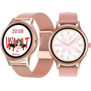 DT66 Smart Watch Frauen Männer Smartwatch-Armband-Band Female Health Management HR-Blutdruck-SpO2 Smart-Uhren