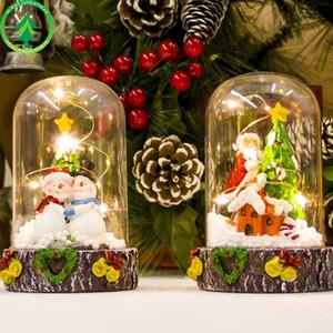 LED Weihnachtsfee-Licht-Kugel-Girlande Weihnachtsmann Fairy Light Party im Freien Gartentisch Display-Crafts Weihnachtsbeleuchtung Geschenke