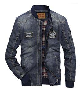 Zipper Pocket Mens Abbigliamento Multi Pocket Mens Designer Jean giacche casual Applique Mens Jean Cappotti Moda