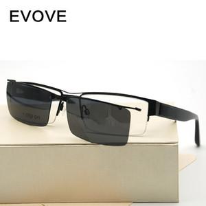 Evove Magnetic Sonnenbrille polarisierte Männer Clip auf Sonnenbrillen Man Driving Myopie Dioptrien Treiber Fit über Brillen Anti Polar