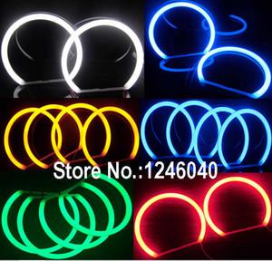 Cotton LED Angel eyes halo ring kit for E36 E38 E39 E46 Coupe sedan LADA VAZ BA3 2106 White blue amber Red Green 5Colors
