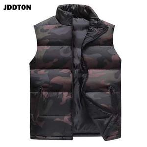 JDDTON Men's Waistcoat Camouflage Vest Loose Windproof Sleeveless Jackets Windbreaker Casual Male 6XL Streetwear Clothing JE368
