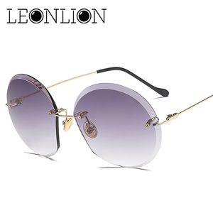LeonLion 2020 Metall Goggle Randlos-Sonnenbrille-Frauen Ozean Objektiv klassische Marken-Designer Männer / Frauen HD Sonnenbrillen Frauen UV400 Box