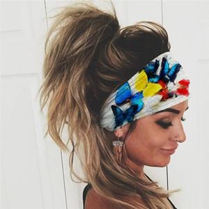 Women Headwear Colorful Printed Scarf Elastic Female Headwear Turban Head Scarf Ladies Bandage Hair Accessories Fashion